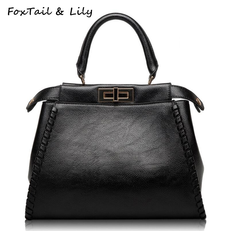 FoxTail & Lily Genuine Leather Ladies Shoulder Crossbody Bag Fashion Famous Brand Designer Handbag Elegant Women Messenger Bags fashion casual michael handbag luxury louis women messenger bag famous brand designer leather crossbody classic bolsas femininas