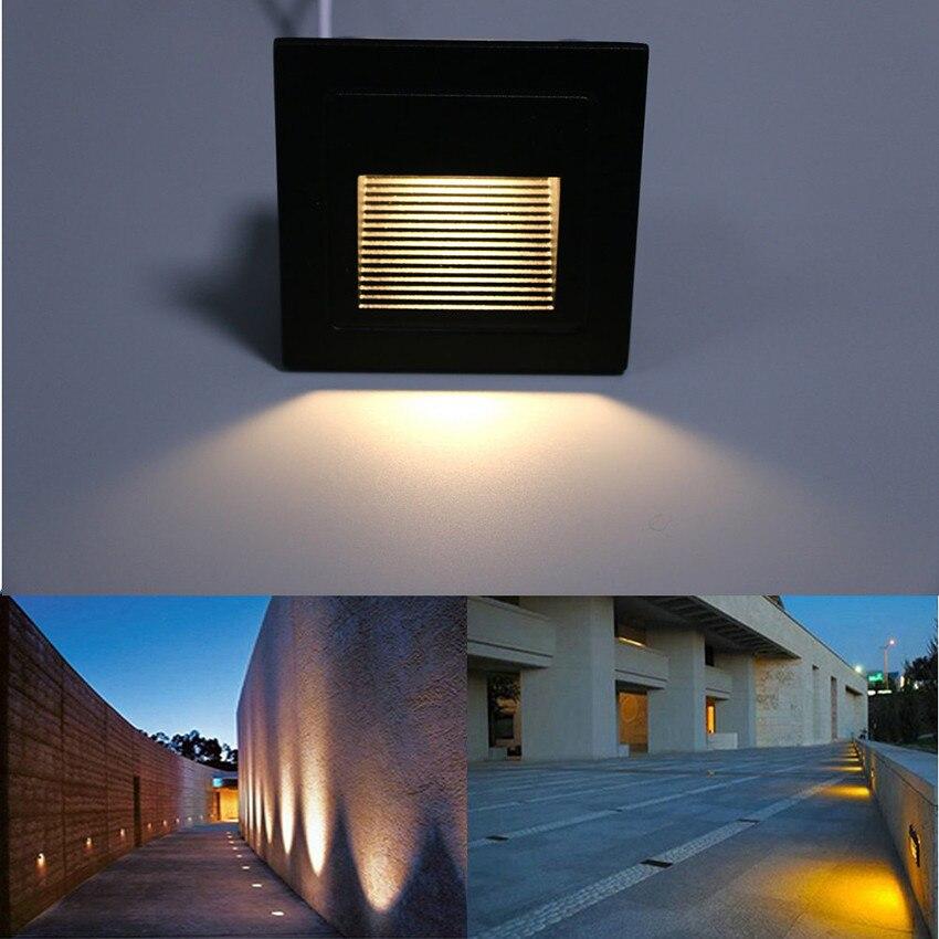3W geleid trap licht met ingesloten box Aluminium Step Lights buiten - Buitenverlichting - Foto 4
