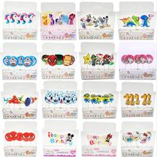 5pcs/lot Unicorn Moana Emoji Spiderman Party Supplies Kids Birthday Candles Cake Topper Evening Decorations