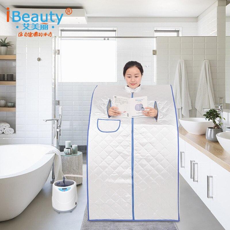 المنزلية قدرة 2L 1000 واط غرفة بخار محمولة خيمة باخرة الأسرة بخار ساونا مربع-في أحواض استحمام محمولة وقابلة للنفخ من المنزل والحديقة على  مجموعة 1