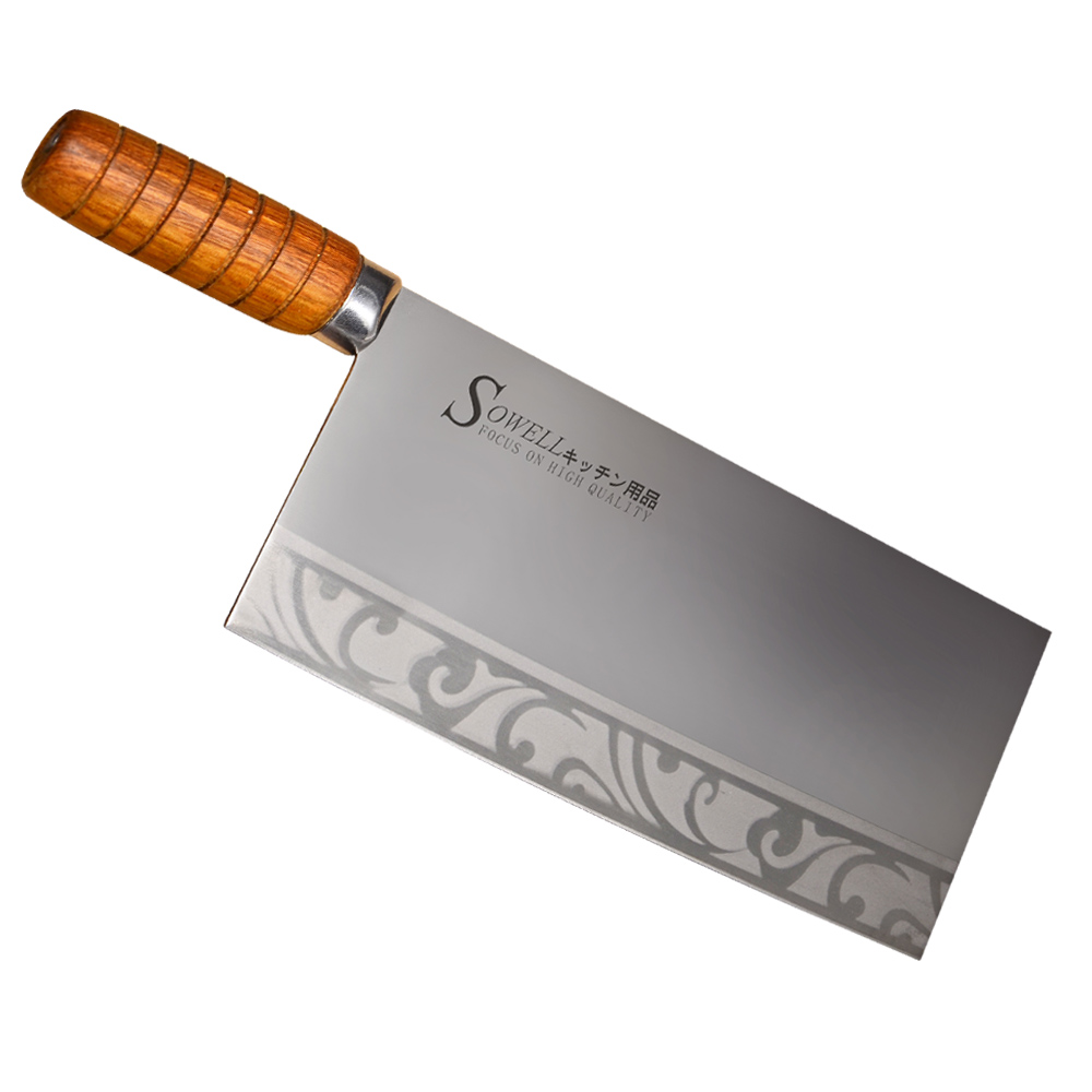 Sowell Brand 9 Inch Chopping Knife 3Cr14 Stainless Steel Sharp Kitchen Knife For Chop Bone Meat