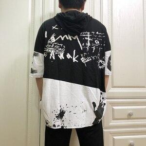 Image 5 - Verão homem plus size 2xl 7xl 8xl 9xl hiphop t camisa t t camisa de moletom com capuz masculino casual de manga curta camiseta de impressão 150kg 155cm