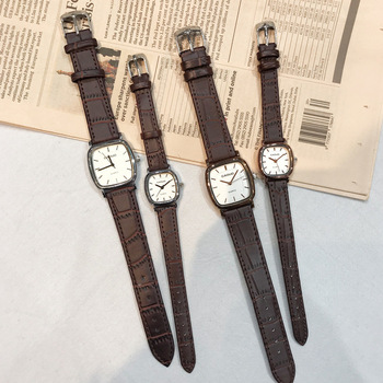 Leather Band Bracelet Anqitue Bangle Watches Reloj 2