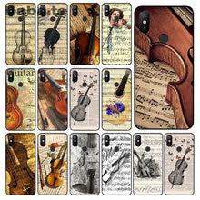 35c95e41151 Music score Musical instrument violin guitar Soft Rubber black Phone Case  For Xiaomi MAX2 3 Note2 3 Redmi5 Redmi 5plus MI8 mi6