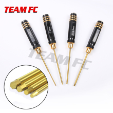 TeamFc 4Pcs/set Titanium Plating 1.5/2/2.5/3mm Hexagon Screwdriver Screw Driver Tool Kit for RC Model Car Boat Airplane