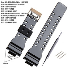 New Brand 16mm Black Watch Strap For DW-5600 DW-5700 G-8900 GD110 GA110 Watch Band +Tool
