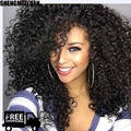 "Top Kinky Curly Afro Wig 22""Long Kinky Curly Wigs for Black Women Black Hair Wig African American Synthetic Cheap Wigs for Women"
