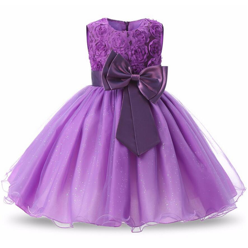 2018 New Wedding Flower Girls Dress Infant Kids Party Elegant Dress For Summer Girl Tutu Princess Dresses Children Clothing summer 2017 new girl dress baby princess dresses flower girls dresses for party and wedding kids children clothing 4 6 8 10 year