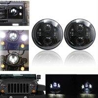 Wrangler Headlight 7inch Round High Low Beam 12V 24V For Jeep Wrangler 07 17 JK CJ H4 LED Headlights For Hummer H1 H2