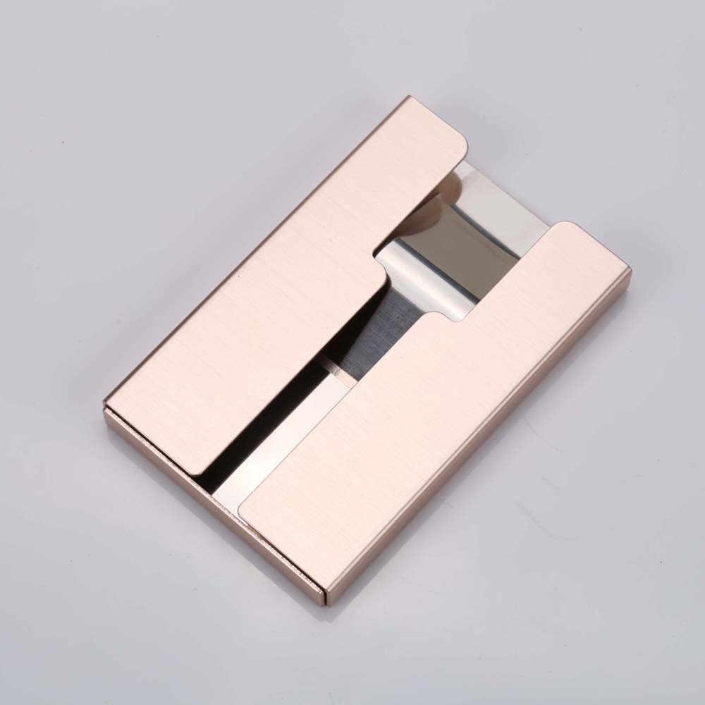 Metal Mini Suporte Da IDENTIFICAÇÃO Do Cartão de Crédito Dinheiro Clipe Marca de Moda Preto Branco Com RFID Anti-roubo Carteira Homens