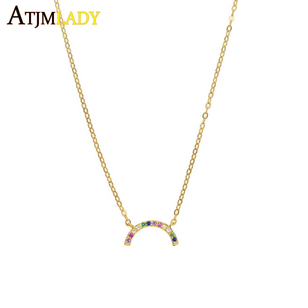 Fashion Lady Silver Heart Rainbow White Opal Pendant Necklace Wedding Jewelry Fashion Necklaces & Pendants necklace pendant watch