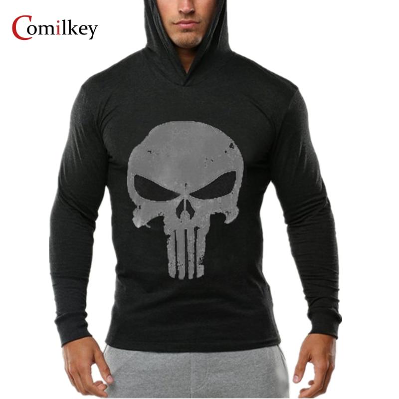 Marka Giyim Hoodies Erkekler Gymclothing Hombre Kazak Kafatası - Erkek Giyim