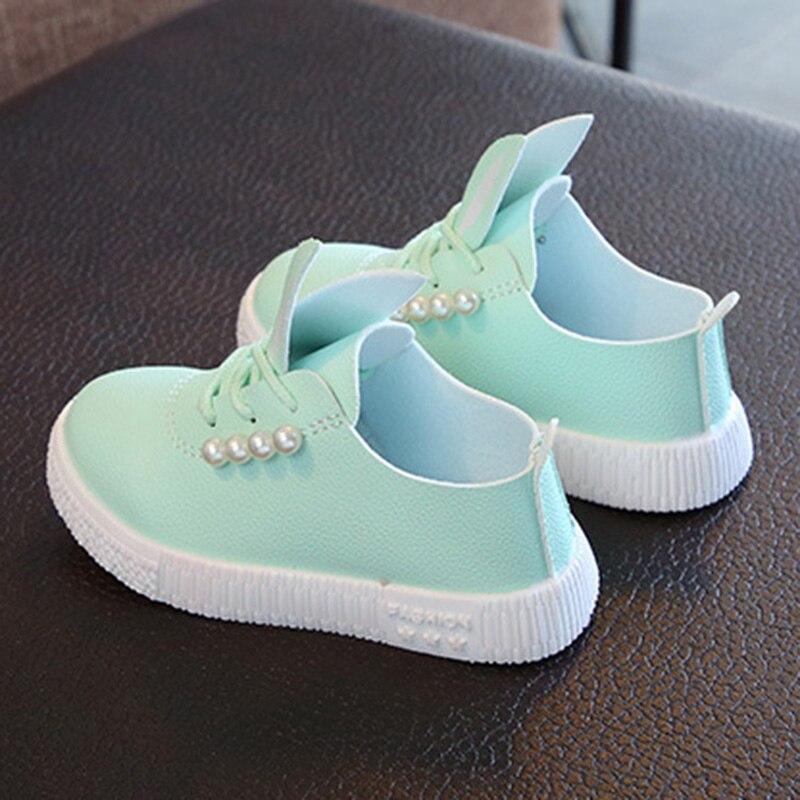 Sneakers Princess-Shoes Girls Breathable Children Anti-Slip Rabbit-Ear-S7jn 1-Pair Beads