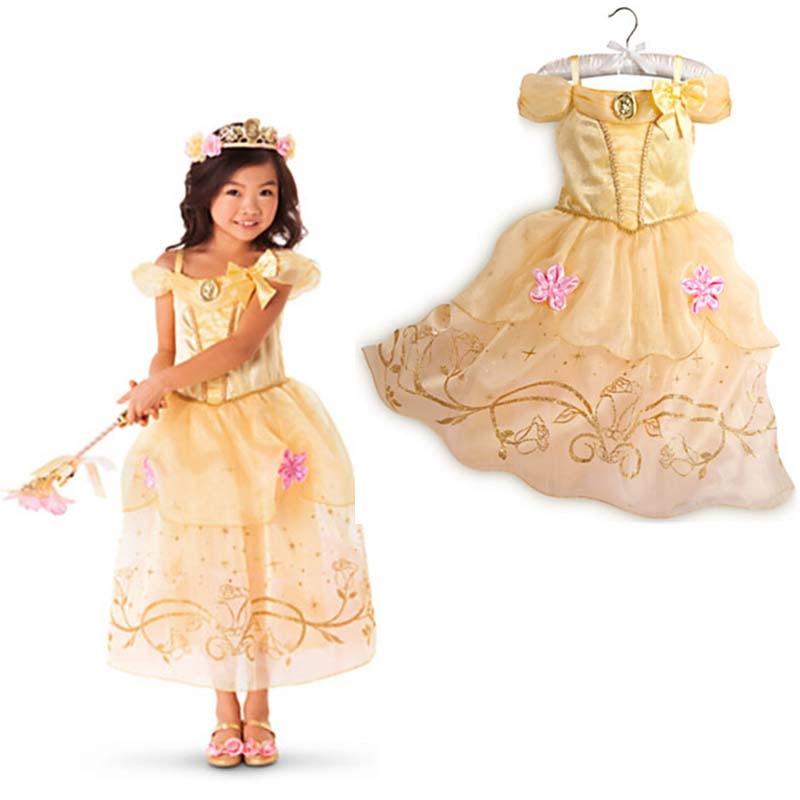 Vestidos para niñas 2018 Moda Sofia Cinderella Rapunzel Belle - Ropa de ninos - foto 2