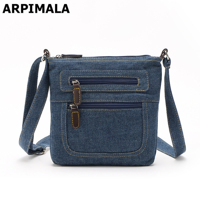 Arpimala British Style Denim Handbags Small Jean Bags For Women Children Travel Shoulder Messenger S