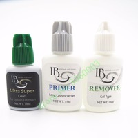Free shipping 1 set i beauty Eyelash Extensions glue Kit Primer + long lasting Ultra Supper + Glue Adhesive Remover