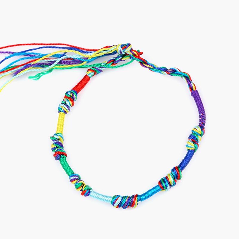 Fashion brazilian bracelet multicolor braided boho chain bohemian tassel strain handmade sport chain friendship bracelets unisex 1