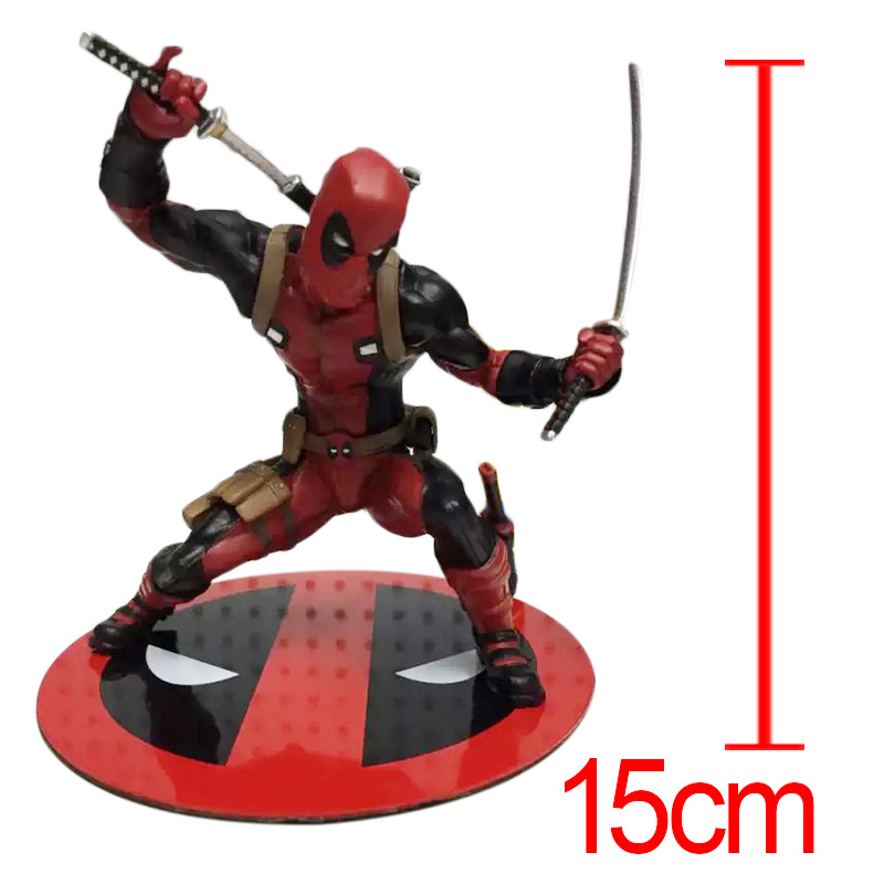 15cm Western Animiation X-men Deadpool Wade Winston Wilson Action Figure PVC Model Doll Collection Toys Gift for Children