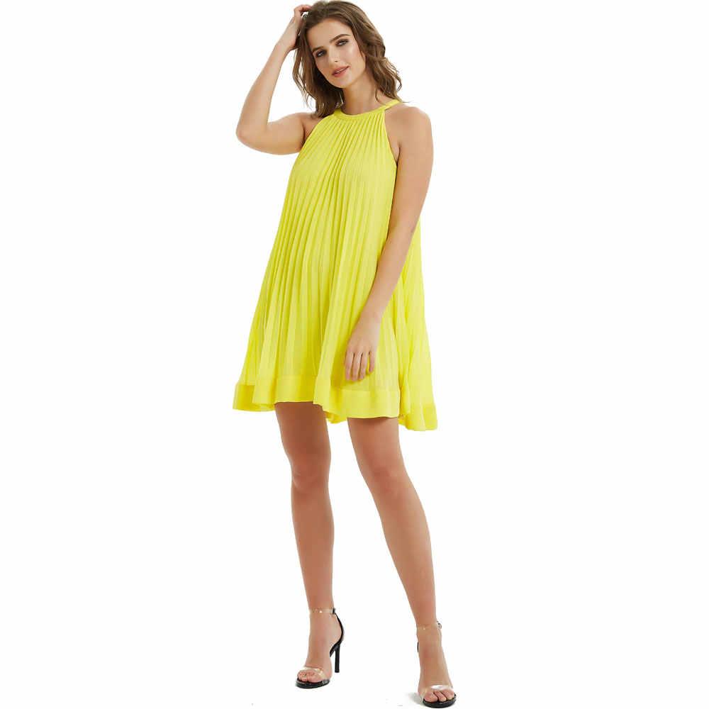 Милые сексуальные свободные мини плиссированные платья женские модные платья с рукавом халте женские элегантные милые прямые драпированные платья женские