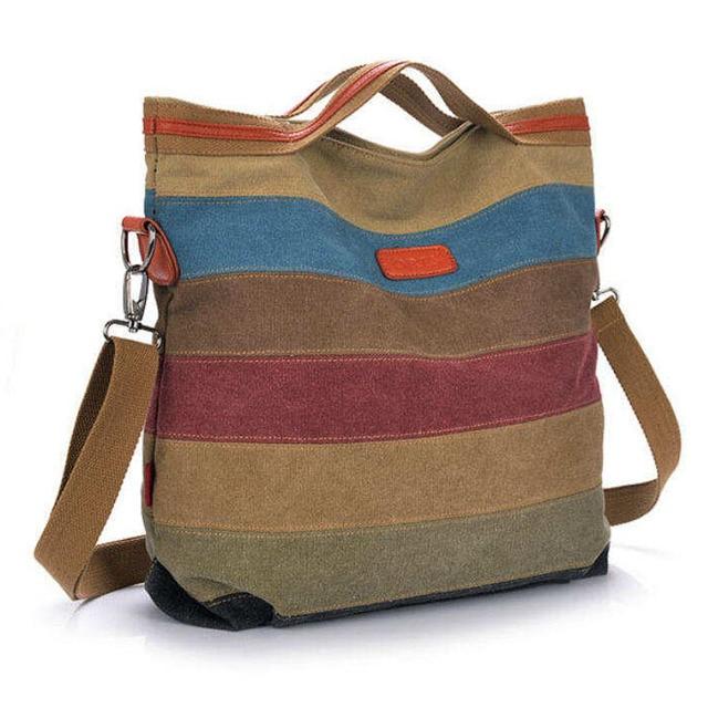 2015 new stripe vintage Women shoulder pouch messenger bag women canvas handbag women's handbags patchwork women bag W171