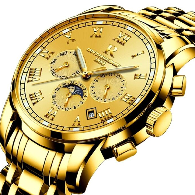 Watches Top Brand Men's Automatic Mechanical Watch Steel Strap Fashion Watch Relogio Masculino Calendar Waterproof Men's Watch