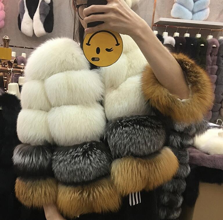 Top des ventes étoiles Venise réel renard manteaux de fourrure Pour Les Femmes belle magnifique recadrée fourrure naturelle vestes abrigo mujer dropshiping