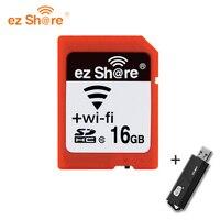 Оригинальная беспроводная карта памяти EZ share sd wifi 32 Гб 16G 4g 8g Class 10 64g 128g для canon/nikon/sony Card Free card reader