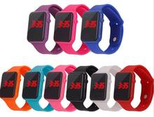 2016 New hot electronic led student movement waterproof silicone bracelet watch men women sports Led watches