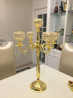 2017 Gold Wedding Candelabra crystal table centerpiece 80cm Tall