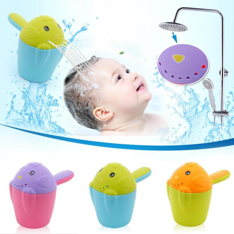 1 Piece Chicken Shaped Baby Bathing Cup Shower Bailer Hair Washing Cup Bathing Spoon Water Scoop Baby Bathroom Supply For Fun W4