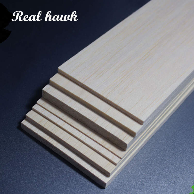 1000x80x2/3/4/5/6/8/10mm AAA+ Balsa Wood Sheets super quality for DIY airplane boat model material free shipping