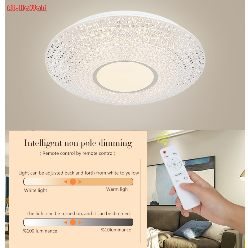 Modern LED Ceiling Light Lighting Fixture Lamp Surface Mount Living Room Bedroom Bathroom Remote Control Home Decoration Kitchen kingsilk kingsilk кпб sloan king size евро макси