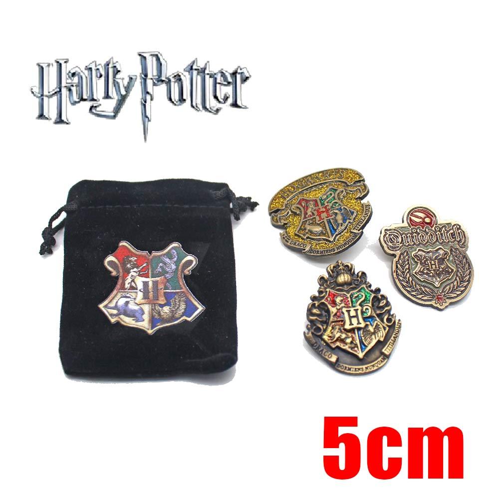 Giancomics Hot Harri Potter Badge+Bundle Pocket Brooch Anime Zinc Alloy Pin Exquisite bag Costume Ornament Otaku Collection Gift