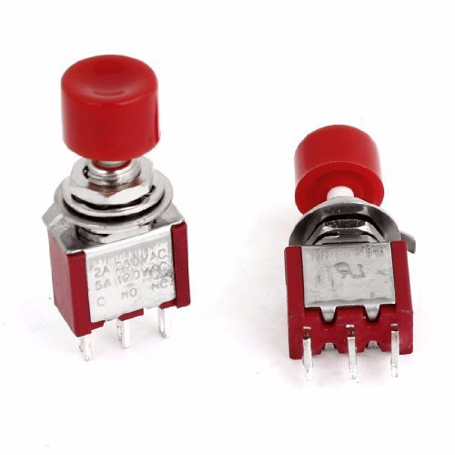 Lighting Accessories Selfless 10pcs Red Cap Momentary No/nc 3 Pin Panel Mount Push Button Switch Ac 250v 2a 120v 5a Easy And Simple To Handle