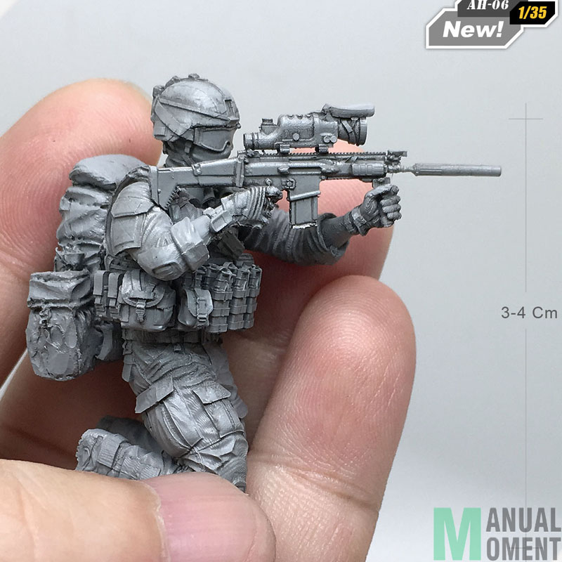 Miniature 1/35 Modern U.S Army Special Forces Individual Soldier G Resin Model Figure Kit AH-06Miniature 1/35 Modern U.S Army Special Forces Individual Soldier G Resin Model Figure Kit AH-06