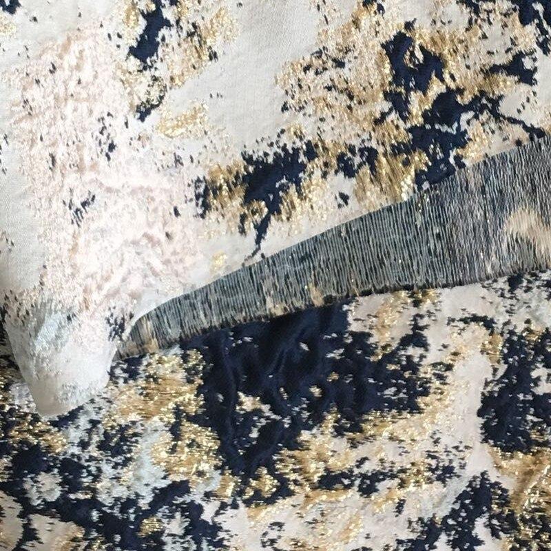110 cm lot 3D brocade fabric for sewing jacquard cloth yarn dyed heavy metallic fabrics graffiti pattern telas fat quarters in Fabric from Home Garden
