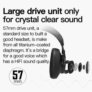 Image 3 - Bluedio T7 Bluetooth אוזניות ANC אלחוטי אוזניות bluetooth 5.0 HIFI קול עם 57mm רמקול זיהוי הפנים עבור טלפון