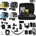"""Saco Caso + W9 2.0 """"WI-FI 1080 P HD Ir Esportes pro Action Camera DVR Carro Câmera de Vídeo À Prova D' Água de Mergulho COMO SJ4000 SJ5000 SJ6000"""