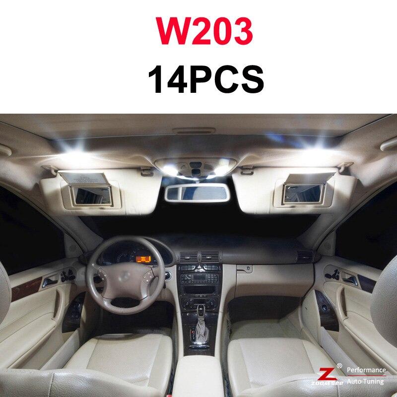 Идеальный белый светодиодный светильник Canbus для Mercedes Benz C class W202 W203 W204 S202 S203 S204 C203 C203 C204 C204(93-14 - Испускаемый цвет: W203 Sedan - 14PCS
