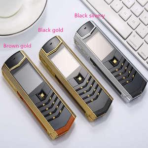 Image 3 - Czyszczenie magazynu wyprzedaż luksusowy metal + skórzany telefon komórkowy oryginalny chiny gsm prezent telefon dual sim telefony komórkowe bluetooth mp3 K8 K6 telefon