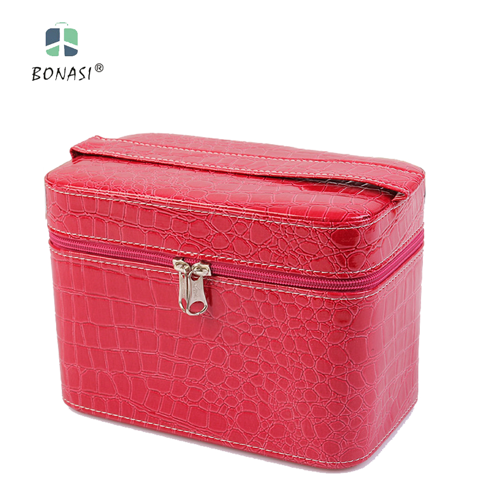 2017 New Cute Cosmetic Bags Women Make Up Bags Stone Pattern Cosmetics Box Ladies Toilet Bag