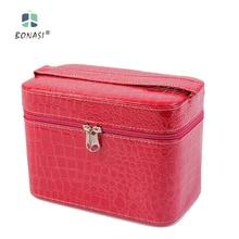 2017 New Cute Cosmetic Bags Women Make Up Bags Stone Pattern Cosmetics Box Ladies Toilet Bag