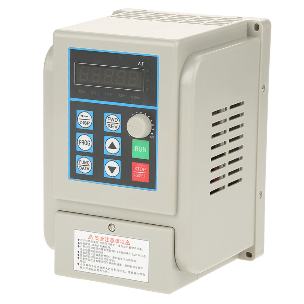 1 pc 220VAC Single-phase Variable Frequency Drive VFD Speed Controller for 3-phase 2.2kW AC Motor Inverter Motor Drive inversor baileigh wl 1840vs heavy duty variable speed wood turning lathe single phase 220v 0 to 3200 rpm inverter driven