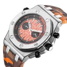 KIMSDUN top luxury brand fashion three needles  sport men watch waterproof automatic mechanical relogio masculino