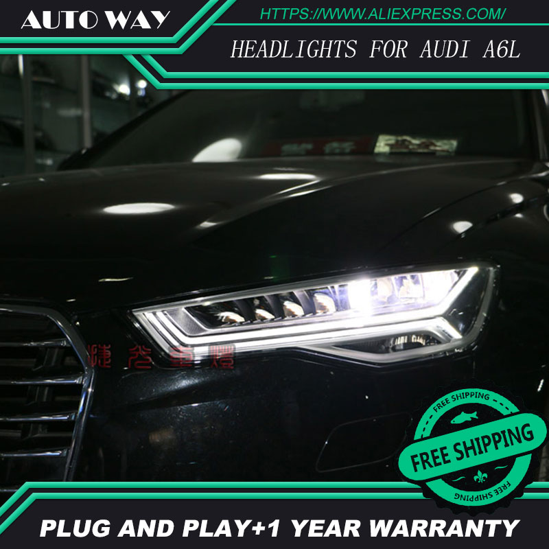 Car Styling Head Lamp for Audi A6L A6 2012-2017 Headlights LED Headlight DRL Daytime Running Light Bi-Xenon Lens HID car styling led head lamp for honda cr v 2012 2014 headlight assembly drl bi xenon lens hid automobile accessorie