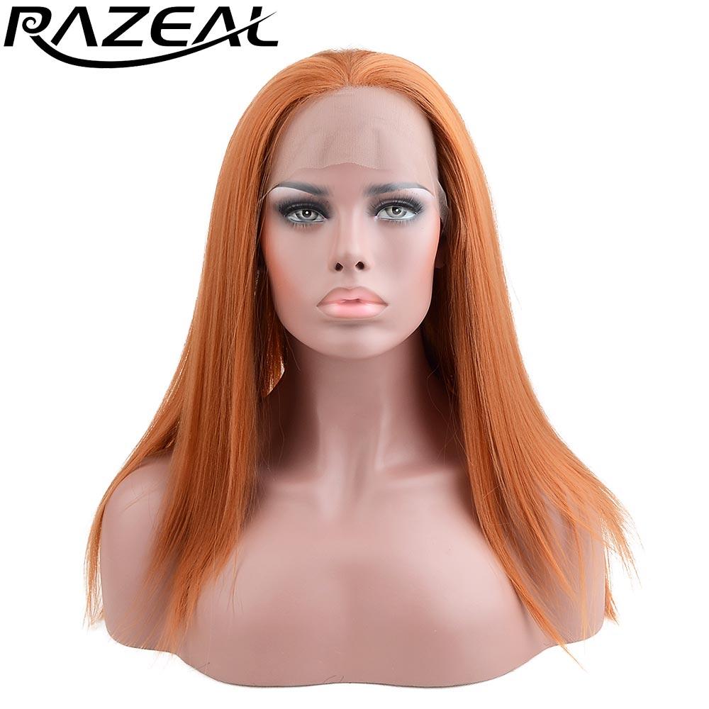 Razeal naturlig blick ljus blont silkeslen rak peruk med avskiljning - Syntetiskt hår - Foto 4