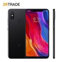 Оригинальный Xiaomi mi 8 mi мобильный телефон 6 ГБ оперативная память 64 ГБ Встроенная Snapdragon 845 Octa Core 6,21 18,7: 9 полный экран NFC 20MP фронтальная камера