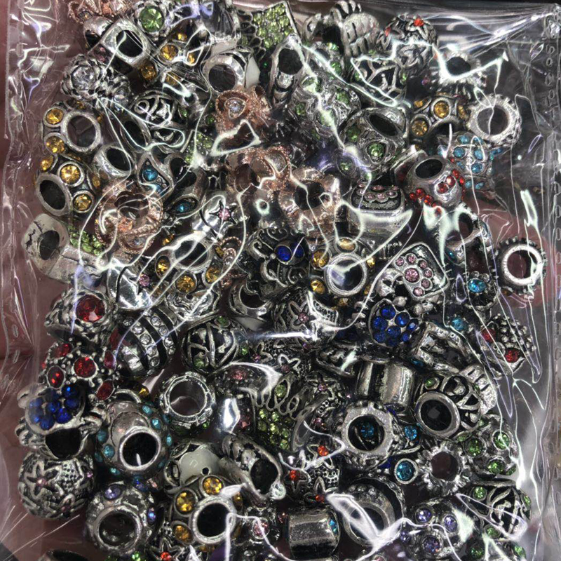 Mixed Wholesale Orginal Charms Beads Fit Pandora Bracelets Jewelry Accessories Beads For Diy Jewelry Making Dropshipping 3mm