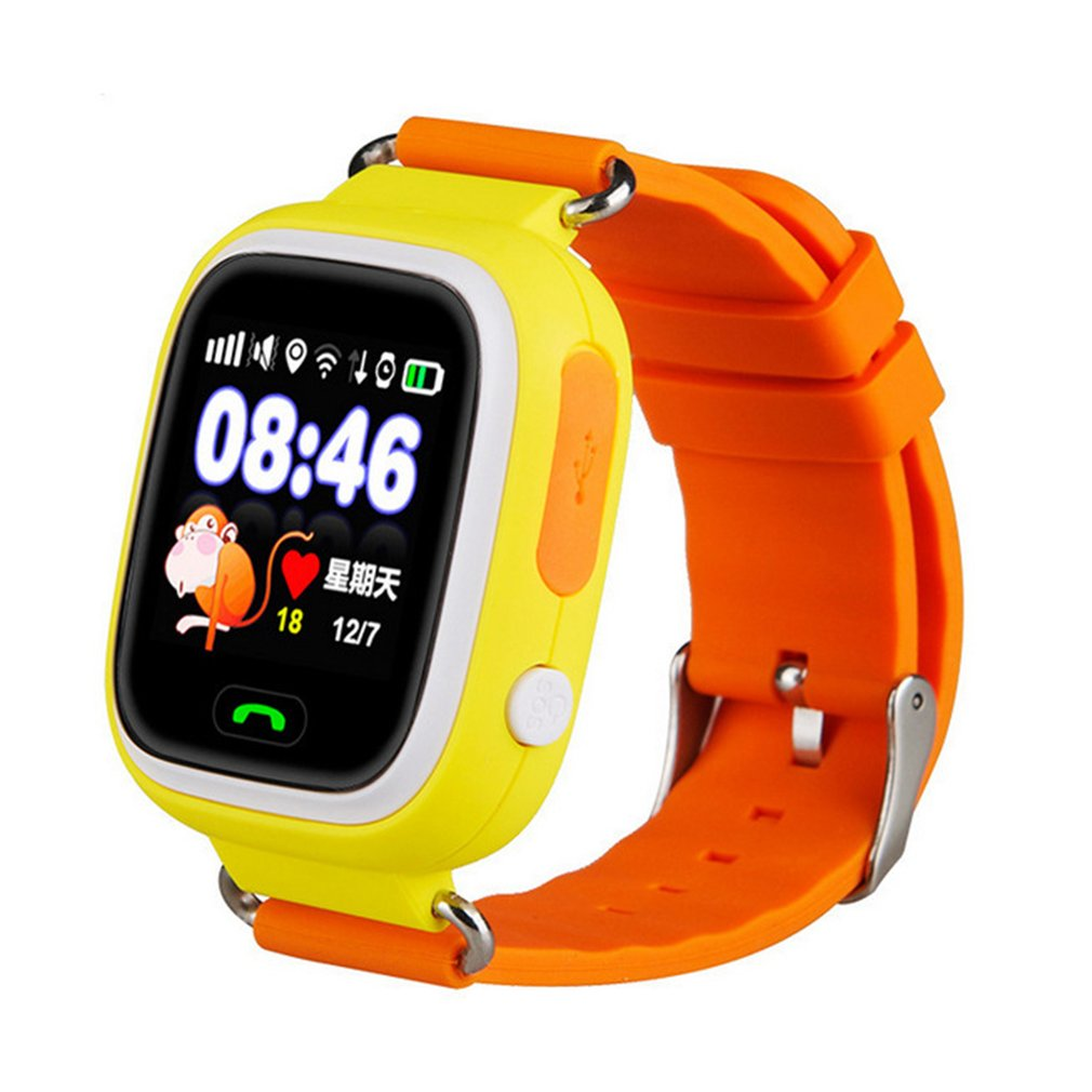 Q90 GPS Positioning Smart Watch For Children SOS Emergency Alarm Watch Color Touch Screen Waterproof Baby Safe Watch 2019