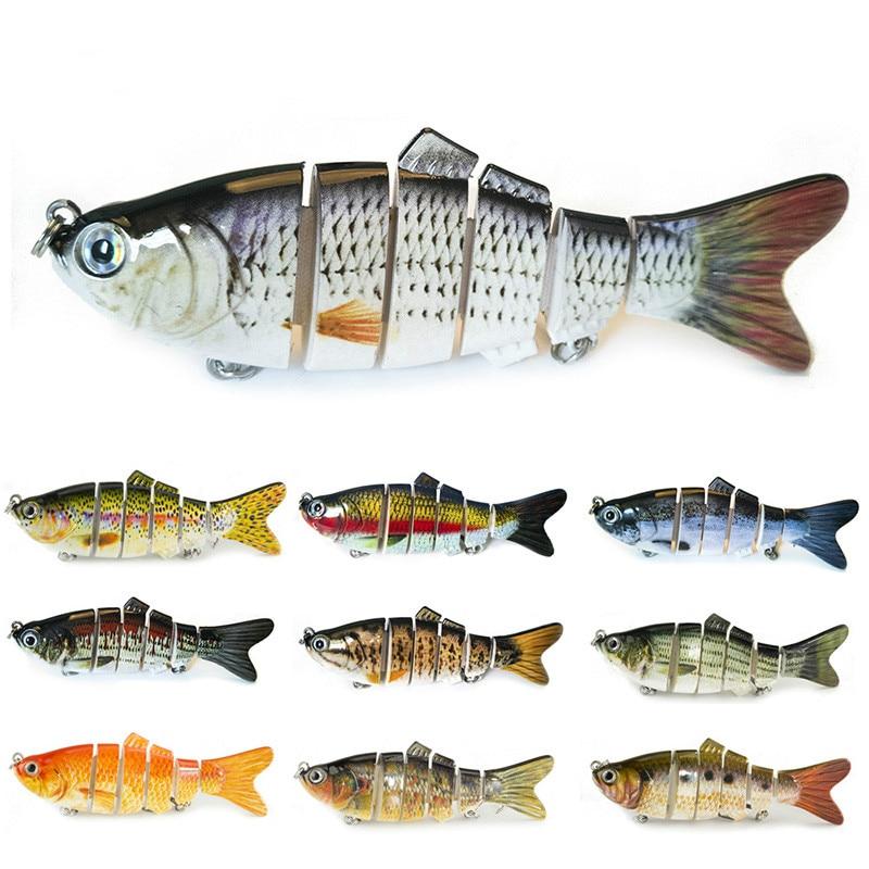 10pcs Fishing Wobblers Lifelike Fishing Lure 6 Segment Swimbait Crankbait Hard Bait Slow 10cm 17g Isca Artificial Lures